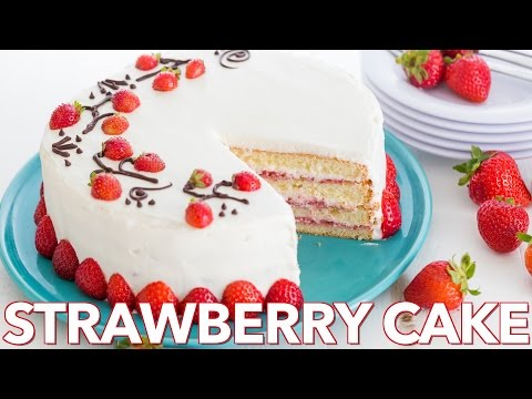 Video Dessert: Fresh Strawberry Cake - Natasha's Kitchen