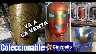 Coleccionables Avengers Endgame De Cinépolis YA A LA VENTA !! Increible Contenedor Dorado Ping S.