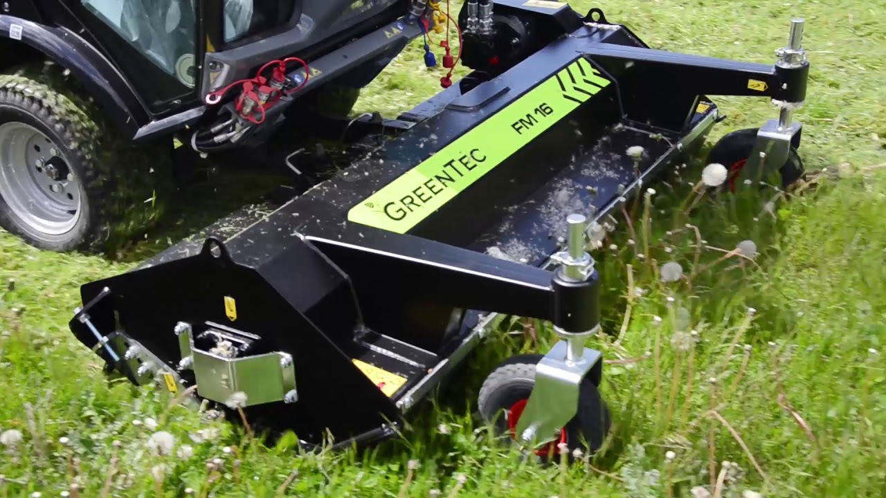 Front mounted flail mowers for compact tractors