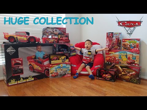 HUGE Disney Pixar Cars 3 Toys Collection Mcqueen Ride On Mater Cruz Lego
