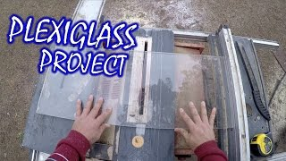 Cutting Plexiglass & Polishing Acrylic Edges - HAUNTED CINEMA TICKET BOOTH! Halloween Facade (Pt.6)