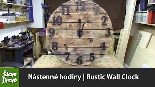 Nástenné hodiny   Rustic Wall Clock