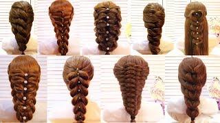 Топ 10 Простые и удивительные прически на каждый день❤️Мастер-класс❤️Top 10 Amazing Hairstyles