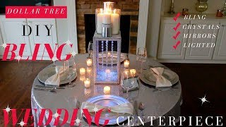 DIY Bling Wedding Centerpieces | Dollar Tree Bling Wedding Decoration Ideas
