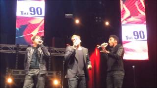 "3T performing ""Anything"" live at Back2the90s Festival in Ahoy Rotterdam (27 September 2014)"