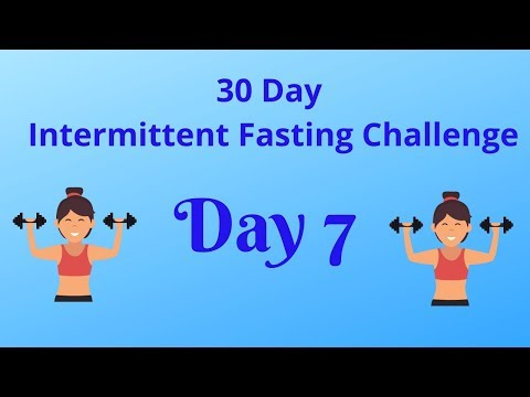 Day 7    30 Day Intermittent Fasting Challenge    Exercise and Diet Plan