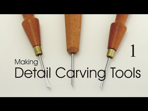 Woodcarver makes miniature carving tools from scratch using simple hand tools and raw steel stock