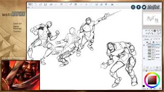 Sketching Quick Action Poses