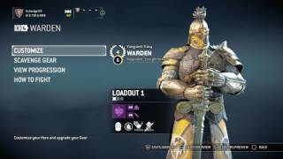How to get gold weapons on For honor