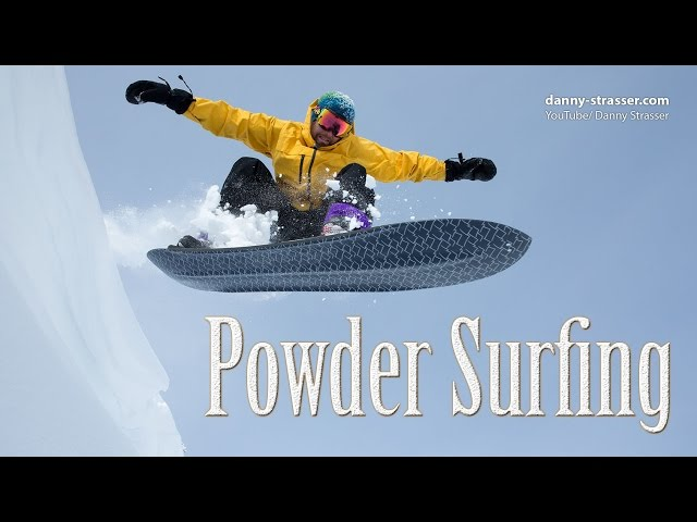 snowboarding without bindings - Powder Surfing