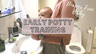 EARLY POTTY TRANING MY 5 WEEKS OLD BABY - ELIMININATION COMMUNICATION