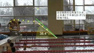 石川県ブレスト平泳ぎstartスタート飛び込み分析