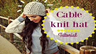 EASY KNITTED CABLE HAT
