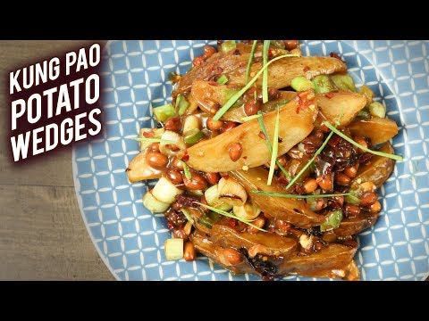 Kung Pao Potato Wedges | Sweet and Spicy Potato Wedges | Indo-Chinese Style Wedges by Varun
