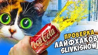 3 ЛАЙФХАКА от SLIVKI SHOW - КОЛА + ПУШКА проверка лайфхаков
