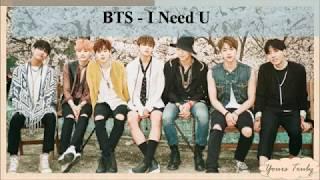 BTS(방탄소년단) - I NEED U [EASY LYRICS]