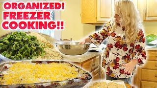 45 ORGANIZED LARGE FAMILY FREEZER MEALS IN 7 HOURS! Freezer Cooking Day // Jamerrill Stewart