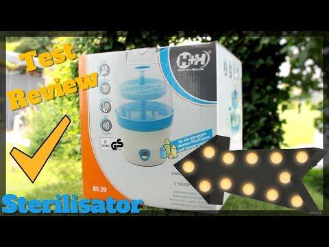 H+H Sterilisator  BS 29b Babyflaschen Sterilisator für 6 Flaschen in blau Test Review
