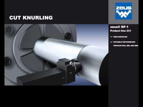 zeus Cut Knurling Tool 231-25M250608-A