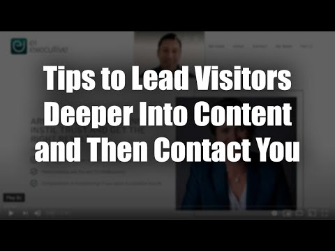 Executive Coaching Website Review – Tips to Lead Visitors Deeper Into Content and Then Contact You
