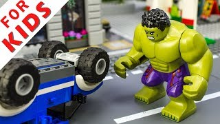 LEGO Is it easy to be HULK ? Car Toys for Children with Vehicles Video Toys for Children Lego City
