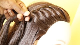 Beautiful Side French Braided Hairstyle | Hairstyle For College Girls | KGS Hairstyles
