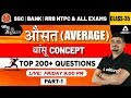 Maths by Dhasu Sir | Average | औसत (Part 1) | SSC CGL, RRB NTPC & All Exams Lec 34