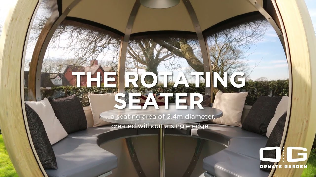 Luxury Rotating Seater Garden Pod