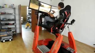 Игровой симулятор вождения с гидравлическим креслом