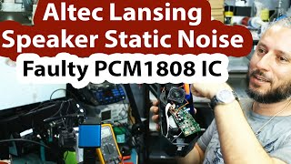 Altec Lansing Speaker will only play loud Static noise - Motherboard repair & BIG BOSS DANCING