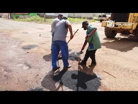 Prefeitura realiza tapa buracos em Dom Aquino-MT