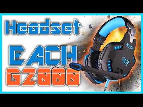 Audifonos Pro Gamer | Kotion EACH G2000 | Unboxing, Review y Prueba de Microfono
