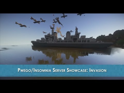 WWII Themed Invasion (cinematic battle scene) Minecraft Project