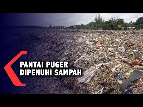 Pantai Puger Jember Dipenuhi Tumpukan Sampah, Pengunjung Menurun