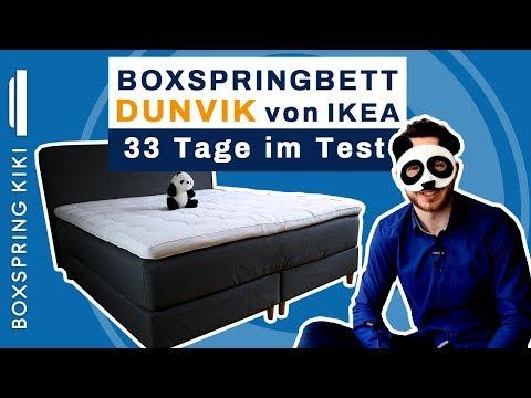 Boxspringbett Dunvik Test von Ikea - Mit Fazit nach 33 Nächten 🐼