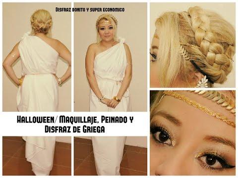 Halloween/ Maquillaje, Peinado y Disfraz de Diosa Griega