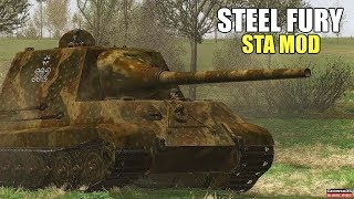"Steel Fury Kharkov 1942 STA Mod ""Rhineland"" Jagdtiger Hunting Tiger Heavy Destroyer Tank Simulator"