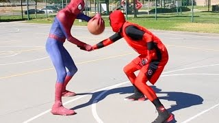 Spiderman vs Deadpool Basketball ...SuperHero Basketball