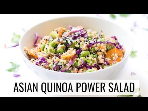 Video ASIAN QUINOA POWER SALAD | healthy lunch recipe | #SALADWEEK