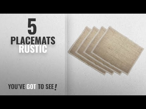 Best Placemats Rustic [2018]: Aothpher Set of 4 Rustic Natural Jute Table Square Placemats Burlap