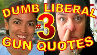 Dumbest Liberal Gun Quotes 3   Best Anti Gun Fails Compilation   SJW Fail Vs. 2nd Amendment
