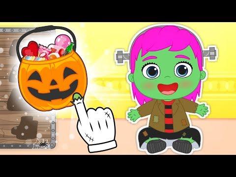 BEBE LILY 💚 Disfraz de Frankenstein para HALLOWEEN | Dibujos animados para niños