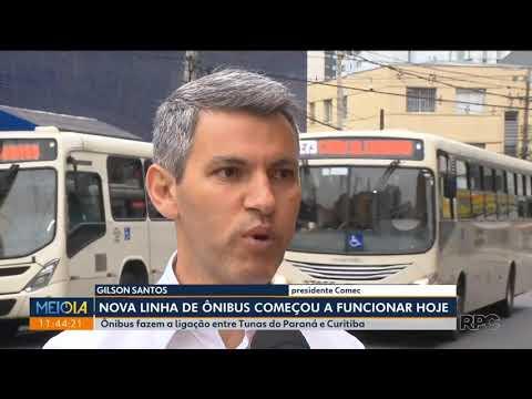 Nova linha fará a ligação de Tunas do Paraná com Curitiba.