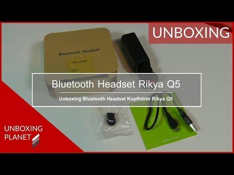 Unboxing Bluetooth Headset Kopfhörer Rikya Q5