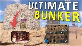 Starting the AMAZING BUNKER BASE! - Rust Solo Survival #1