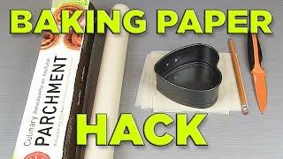 Heart Baking Pan EASY Baking Paper Tutorial