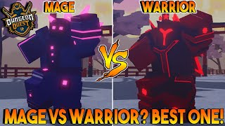 MAGE VS WARRIOR WHO IS BETTER? IN DUNGEON QUEST ALL NEW SPELLS IN SAMURAI PALACE ROBLOX