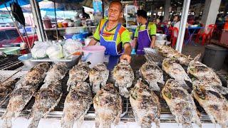 Salt Crusted Tilapia - THAI STREET FOOD Tour in Isaan!! | Kalasin, Thailand!