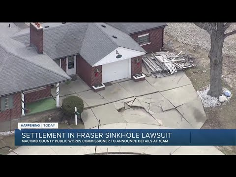 Settlement to be announced in Fraser sinkhole lawsuit