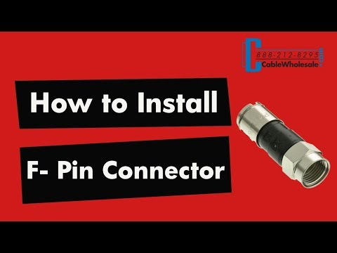 How To Install an F Pin Compression Connector - RG58, RG59, RG6